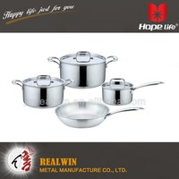 Oil free cookware set , cut edge stainless steel pot