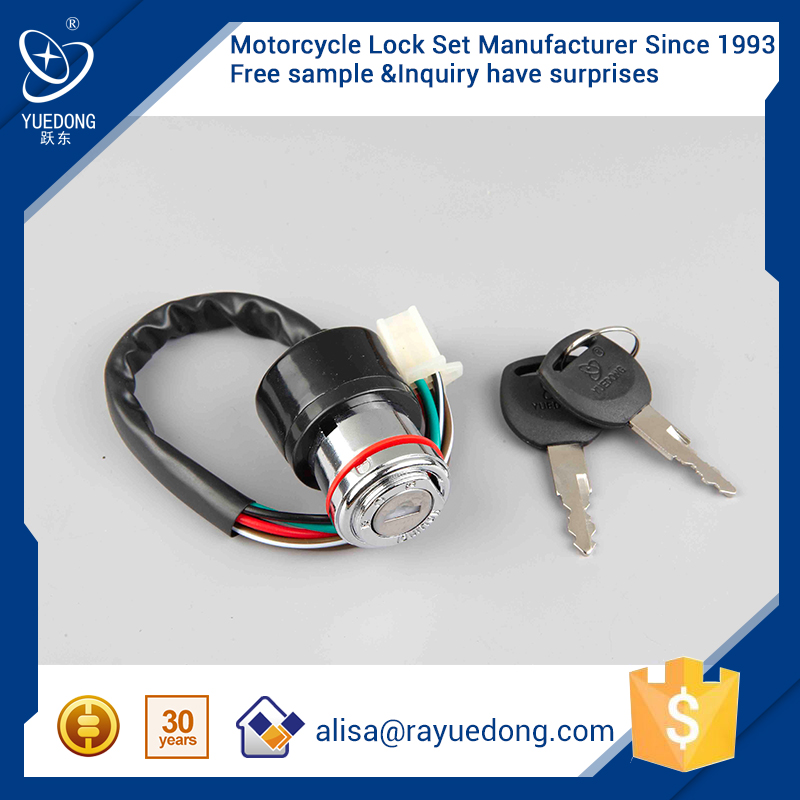 YUEDONG motorcycle spare parts GN125 motorcycle ignition switch lock for honda parts ignition key switch starter switch