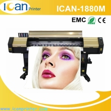 China manufacturing CMYK plastic uv inkjet card variable data 6ft direct printing machine