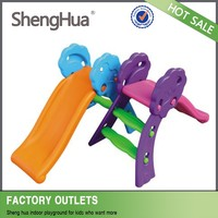 SGS TUV approved high quality kids plastic slide swing set equipment