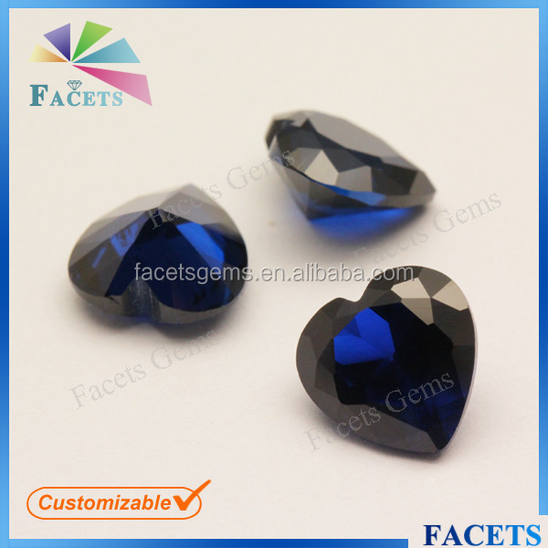 FACETS GEMS Custom Loose Sell Cheap Synthetic Spinel Ceylon Blue Sapphire