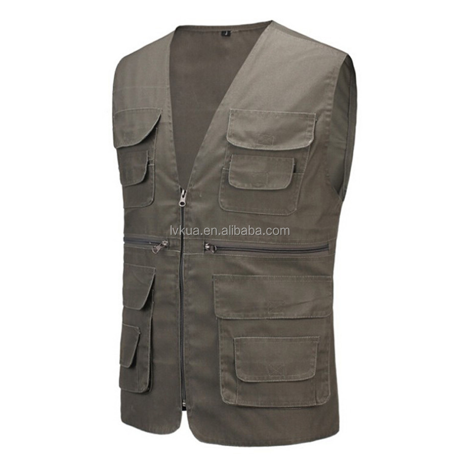 2016 New Arrival Outdoors Shooting Vest With Many Pockets for Hunting Photographer Reports Vests Men's Travel Vests