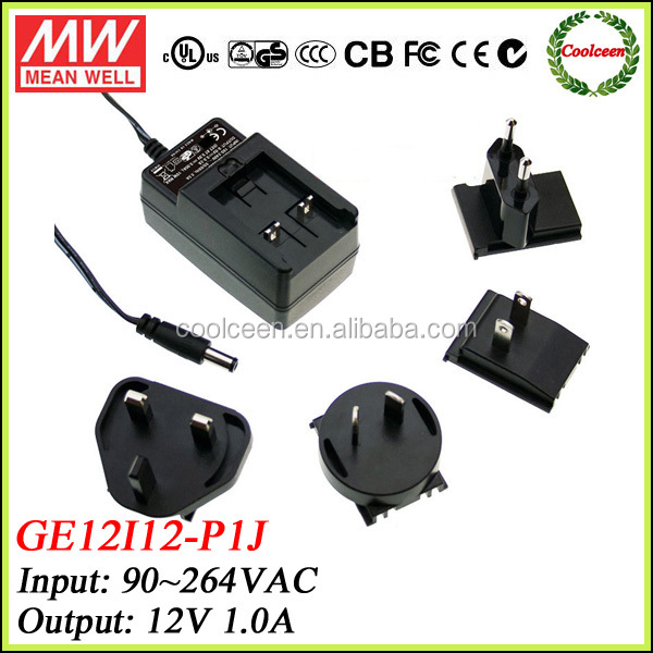 Meanwell 12v 1a power adapter GE12I12-P1J