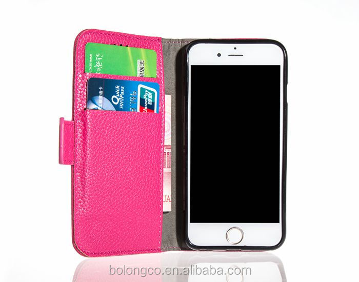 Multi colors cell phone wallet stand case with card slot for iphone 6 6s leather case wholesale