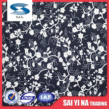 Fabric textile supplier 2016 new Soft Elastic polyester printed fabric