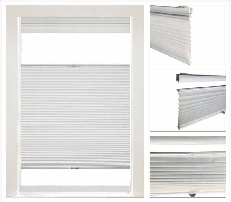 Window blinds online top down cordless plisse shades buy for Blinds types of window treatments