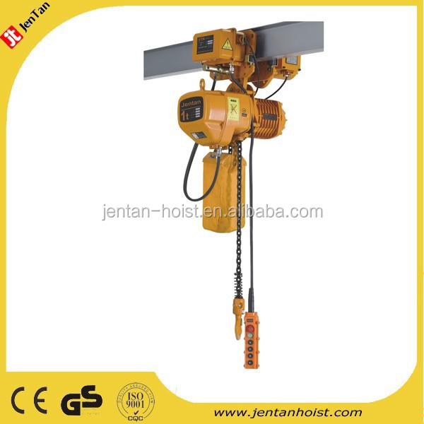 5 ton double chain Electric Chain Hoist with electric trolley