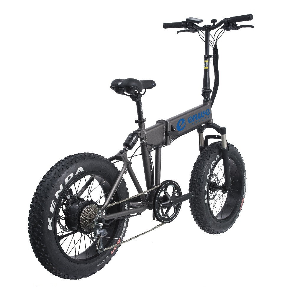 Enwe New Product 2017 Green Power Lithium Battery Folding E Bike/folding Electric Bike/mini Bicycle/foldable Ebike 500W