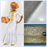 Soft White Cotton Bazin Riche Guinea Brocade Jacquard African Garment Fabric With Perfume Best-Selling
