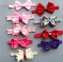 wholesale infant baby bowknot headband child girls holiday hair decoration teens grosgrain ribbon hair bands