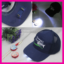 Stock Wholesale Customised Embroidered Sport Led Trucker Cap hat for Reading Fishing Jogging Hiking