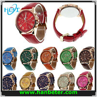 2015 fashion lady geneva quartz watches japan movt from china factory stainless steel back