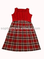 New fashion hot sale children winter dress for girl of 7 years old china supplier