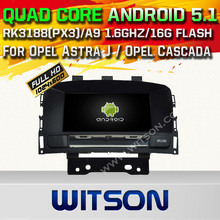 WITSON Android 5.1 CAR DVD PLAYER NAVIGATION For Opel Astra J WITH CHIPSET 1080P 16G ROM WIFI 3G INTERNET DVR SUPPORT