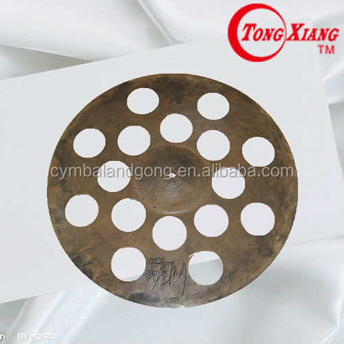 handmade special effect perforated cymbal 18 ride
