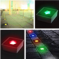 Fast Production Outdoor Square Night Indication Lighting Solar Ground Mounted Floor Light