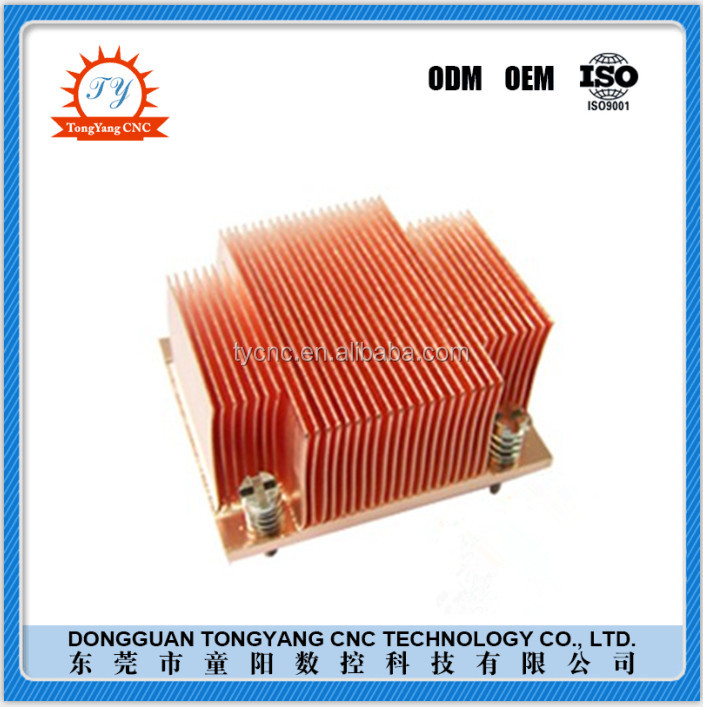 High speed precision cutting led copper heat sink high thermal conductivity