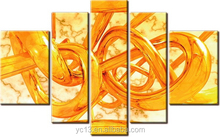 Artwork oil painting on canvas,5pcs panel abstract oil painting
