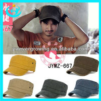 wholesale handsome 2013 custom flat peak caps indian army cap for men