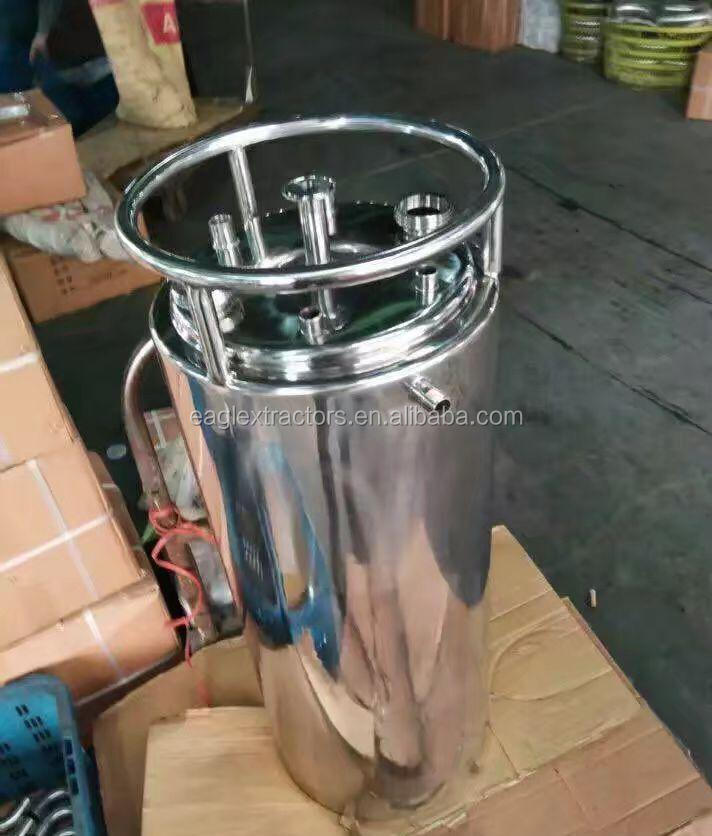 Sanitary Food Grade Stainless Steel Double Jacketed Dewaxing Recovery Solvent Tanks /BHO Closed Loop