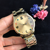fashion hot sales quartz wrist women bear watch 8 colors stainless steel