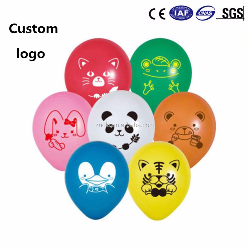 Custom logo printed balloon advertising latex balloons