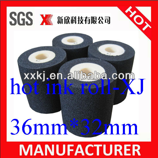 (Dia*height)36mm*32mm XJ black hot solid ink printing ink roller in plastic packaging bags