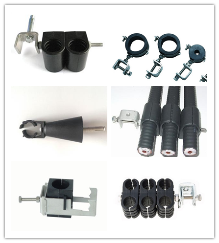 Universal indoor grounding kit for feeder cable