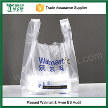 wholesale HDPE plastic T-shirt thank you bag for shopping