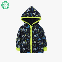 2017 new design hooded baby coat cool children clothing long sleeve winter baby clothes