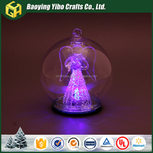 Glass angel dome with LED light