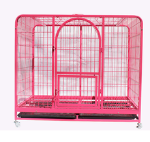 Square steel tube cage for dog