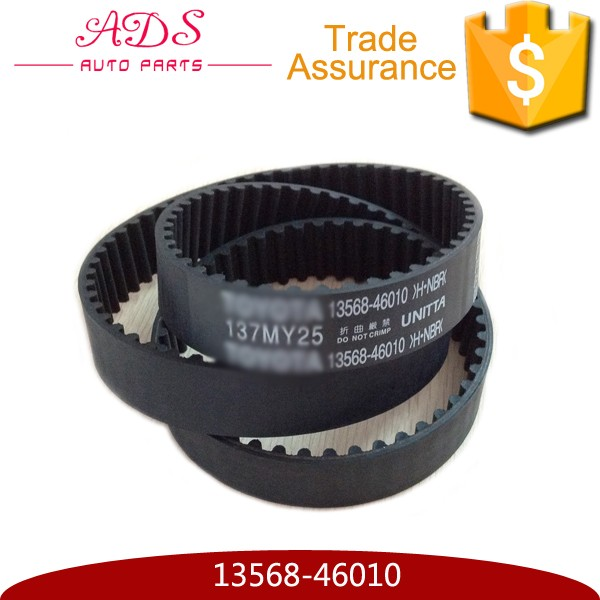 Japanese Auto Car Engine Rubber Timing Belts Supplier for Toyota OEM:13568-46010