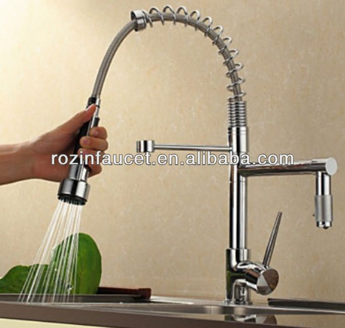 New Deck Mounted Solid Brass Chrome sanitary ware kitchen faucet Single Lever Kitchen Sink Mixer 2636