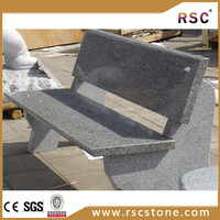 cheap granite headstone polished benches with back