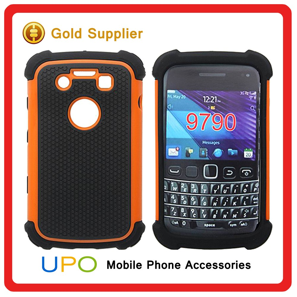 [UPO] Classical 3 in 1 Combo Shockproof Silicon Back Cover Case for Blackberry 9790
