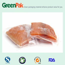 sea food grade transparent vacuum storage frozen bag/plastic food packing vacuum bags