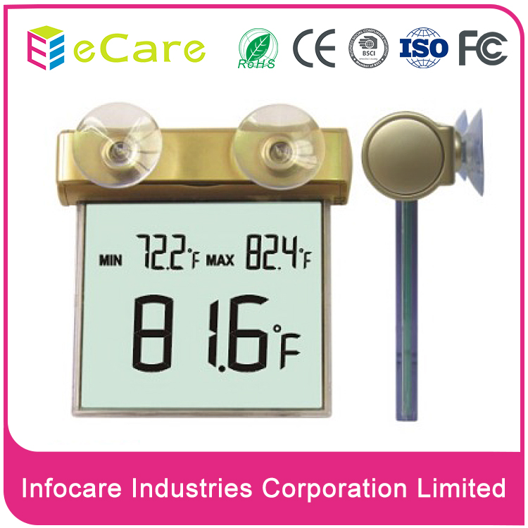 Remote super wireless color clock weather station