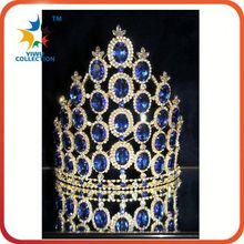 Beauty full round rhinestone pageant crown
