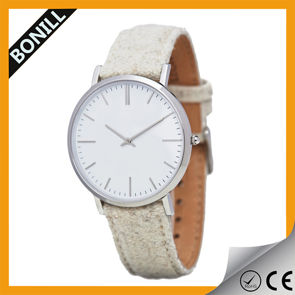 Analog display stainless steel casing brushed finishing new men watch from China factory