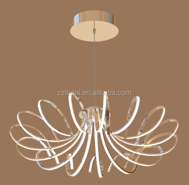 gorgeous energy-saving flower shape chandeliers led pendant lights