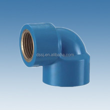 High Quality Plumbing Materials PVC Copper Thread Female Elbow