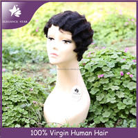 Bestselling could be dyed or bleached human hair wig ,Fashion American girls' first choice human hair wig