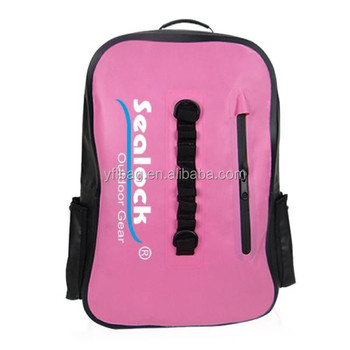 2017 Fashion waterproof PVC TPU 20 L school bag with shoulder belt