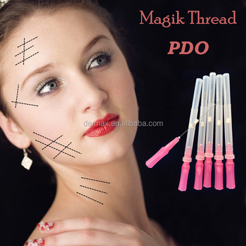 Wholesale beauty supply distributors disposable absorbable pdo surgical suture with needle thread lifting korea