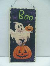 HOT SALE Halloween Decoration Burlap Frame Hanging Plaque