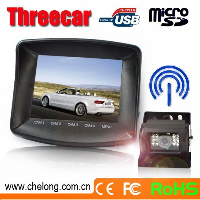 Newest 3.5 Inch TFT Touch Screen Monitor with Wireless Cameras ip68 cmos car reverse camera