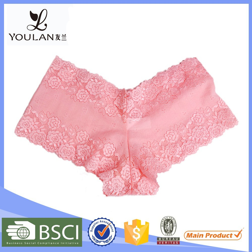 Custom Printed Underwear Young Girl Pink Sexy Woman Panty