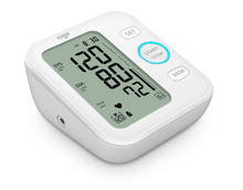 arm type blood pressure monitor with large display and talking