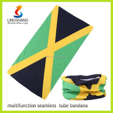 Ningbo LINGSHANG best wholesale elastic tube multifunction country flag polyester magic scarf headband bandana